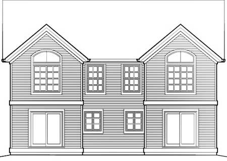 Plan 69377am Curb Appeal In Traditional Duplex Plan