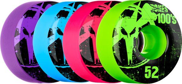 Bones 100's Assorted Color Skateboard Wheels 52MM