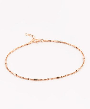 This Rose Gold Anklet is perfect! #zulilyfinds