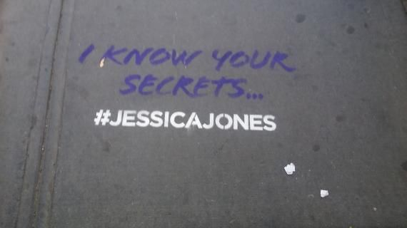 Grafitis de Marvel's Jessica Jones vistos en Nueva York