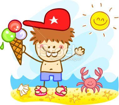 stock illustration 16343062 happy summer holiday boy holding icecream cartoon illustrationjpg 380334 mats pinterest - Holiday Cartoon Images