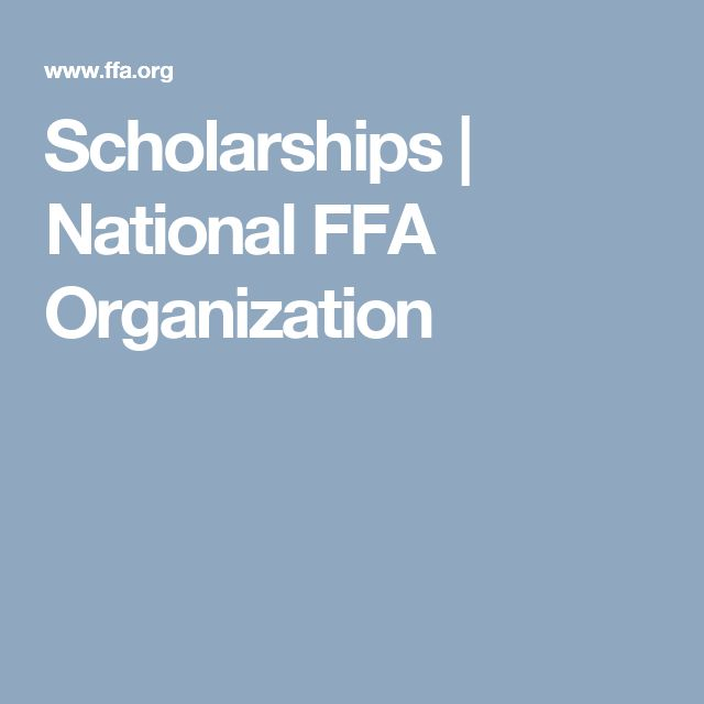 Scholarships | National FFA Organization