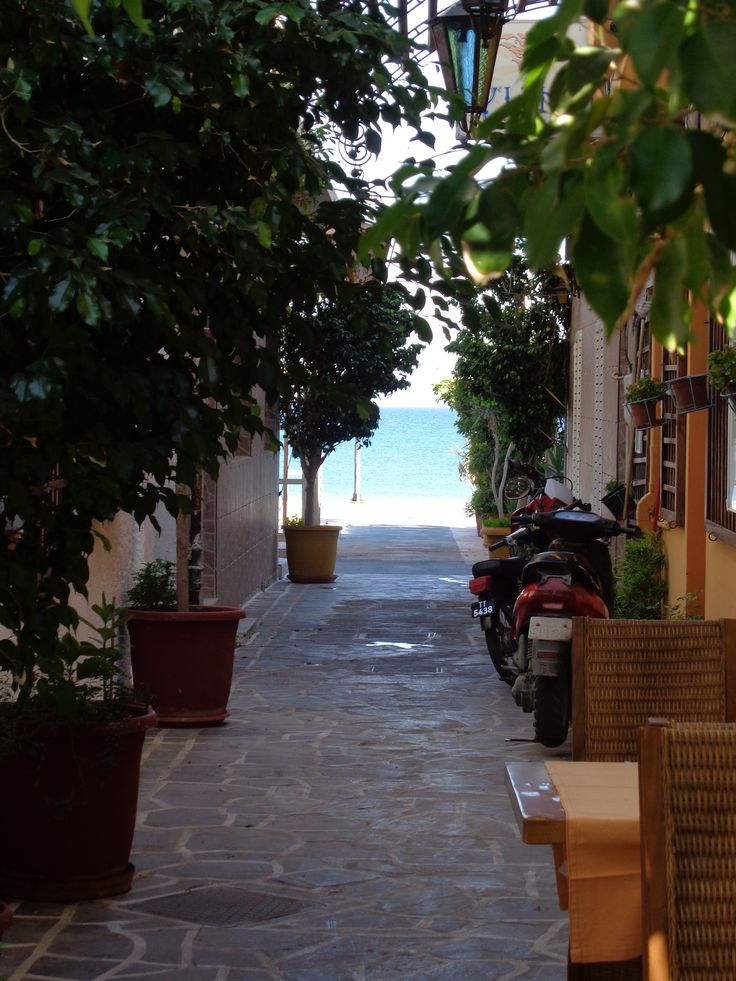 Beautiful Kardamena street, Kos, Greece