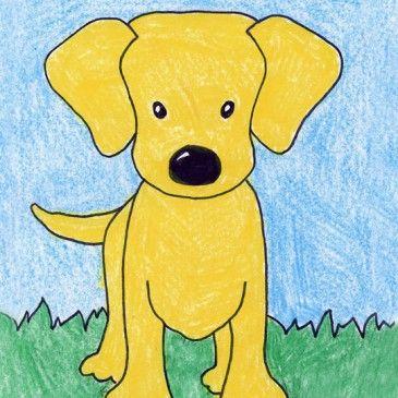 draw a labrador puppy