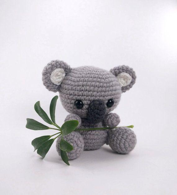PATTERN: Crochet koala toy amigurumi koala por TheresasCrochetShop