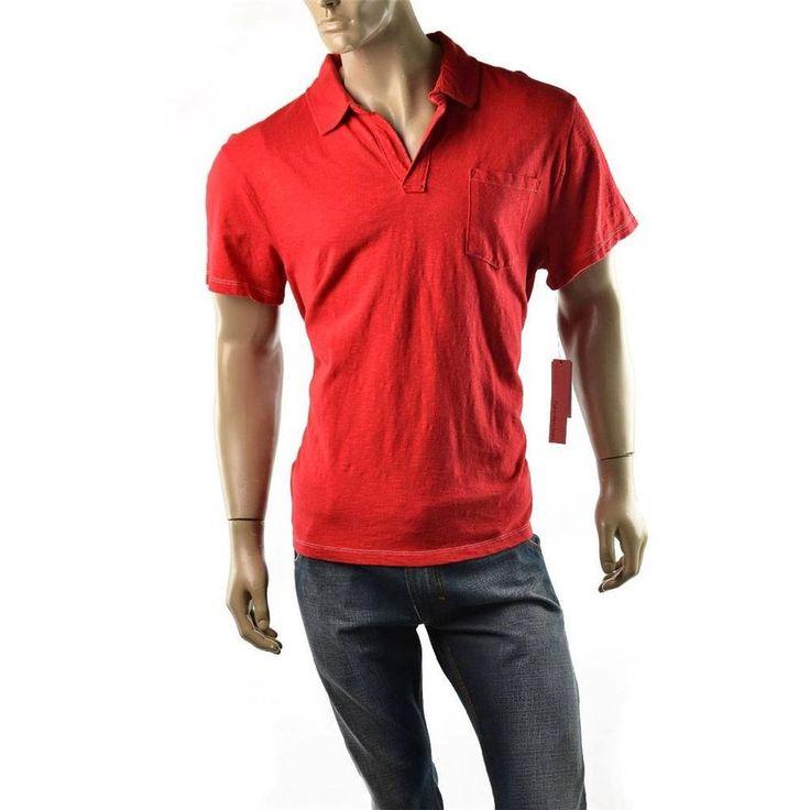 Calvin Klein Polo T Shirt Mens Slub Short Sleeve Tee Shirts CK Jeans Size XL NEW #CalvinKlein #PoloRugby