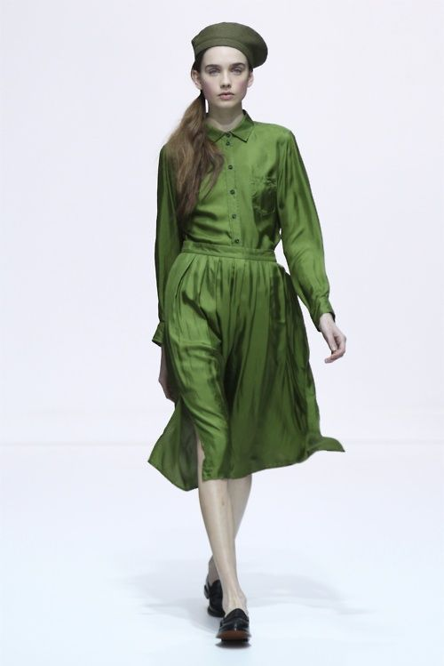 Margaret Howell F/W '12F W Style, Howell Fall, Howell Lfw, Dresses, Runway, Fall 2012, Brigitte Style, Colours Green, Margaret Howell