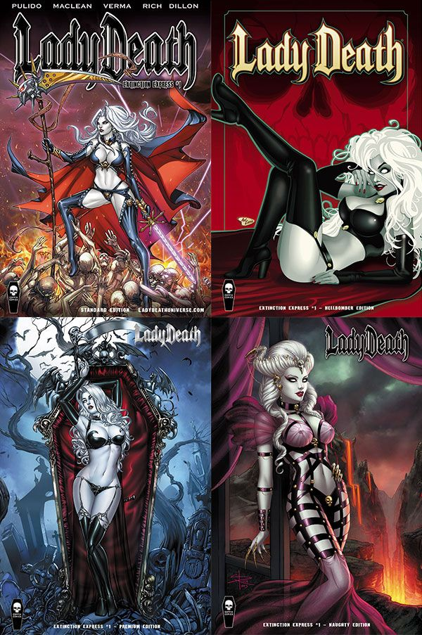 Lady Death: Extinction Express #1 - Comic Book Market Set