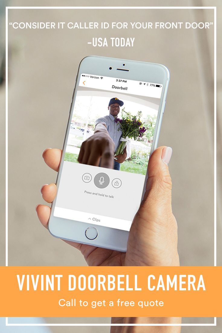 Answer your front door from anywhere with a Vivint Doorbell Camera and complete smart home system. Vivint gives you complete control of your home and front door, from the palm of your hand. Call today to get a free quote and consultation!