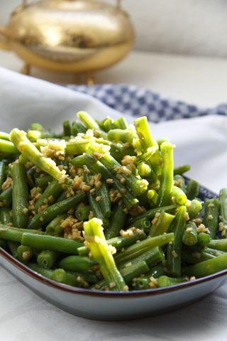 [chinesisch] Jiang Zhi Jiang Dou - grüne Bohnen in Ingwersauce