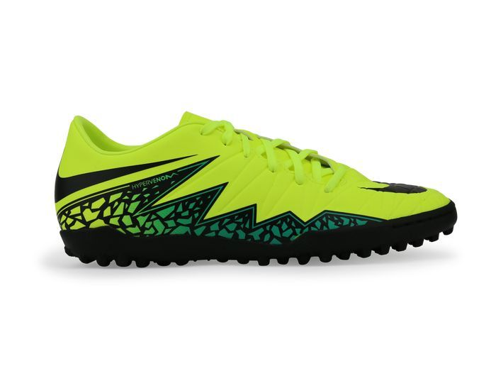 Nike Men's Hypervenom Phelon Turf Soccer Shoes Volt/Black Hyper  Turqouise/Clear Jade
