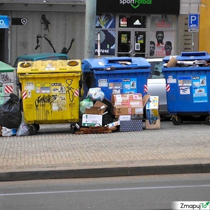 Podnět 145646 - Odpadkový koš kontejner - Praha 10 #Odpadkovýkoškontejner #Praha10 #ZmapujTo #MobilniRozhlas