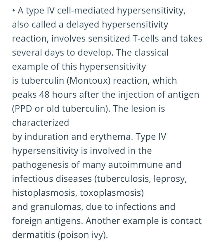 delayed hypersensitivity reaction to poison ivy Type iv hypersensitivity those found in poison ivy) is a t cell-mediated reaction tissue injury also may accompany t the reaction is delayed).