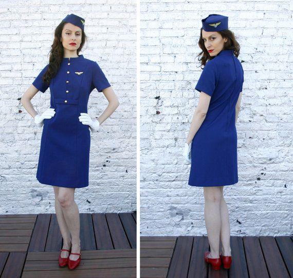 Vintage stewardess costume