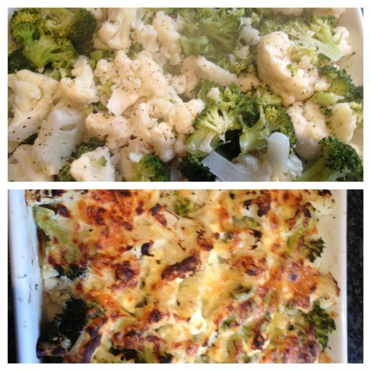 Cauliflower and Broccoli Bake