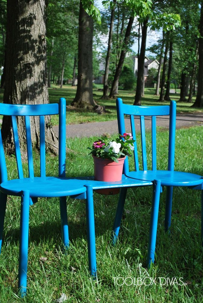 Chair Bench With Planter