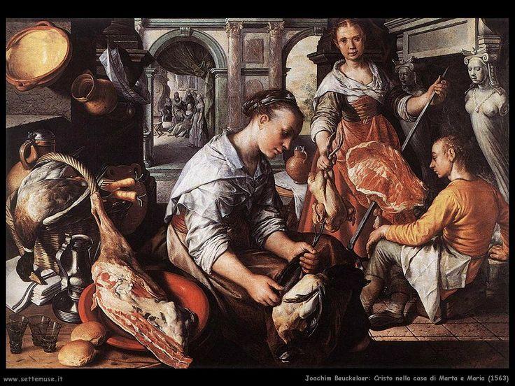 Joachim Beukelaer: Cristo in casa di maria -