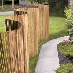 Slatted Bamboo Privacy Screen
