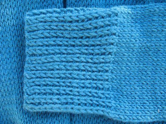 Handknit Womens Wool Vintage Aquamarine Sleeve Scarf. $45.75, via Etsy.
