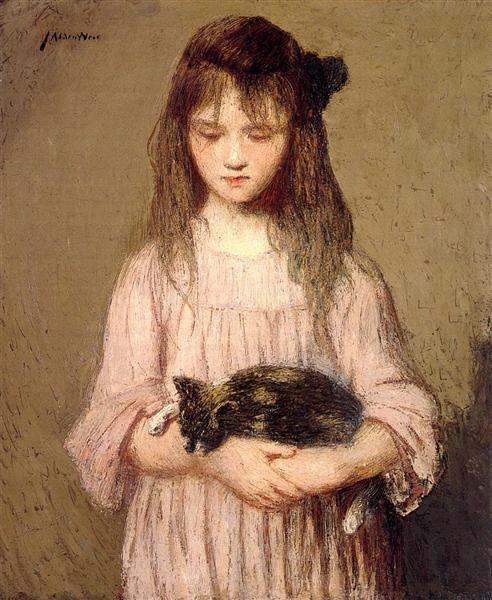 Julian Alden Weir (1852-1919) - Little Lizzie Lynch, 1910