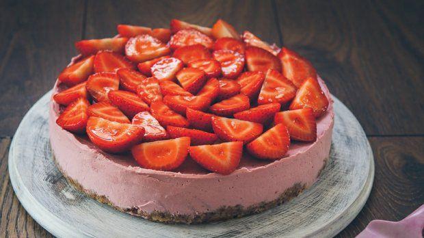 Jahodový raw cheesecake  Foto: