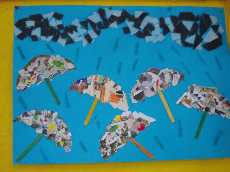 γκρι σύννεφα γέμισαν τον ουρανό της πόλης μας...η πρώτη φθινοπωρινή μπόρα έριξε μικρές..ψιλές σταγόνες και οι πολύχρωμες ομπρέλες άνοιξαν ...