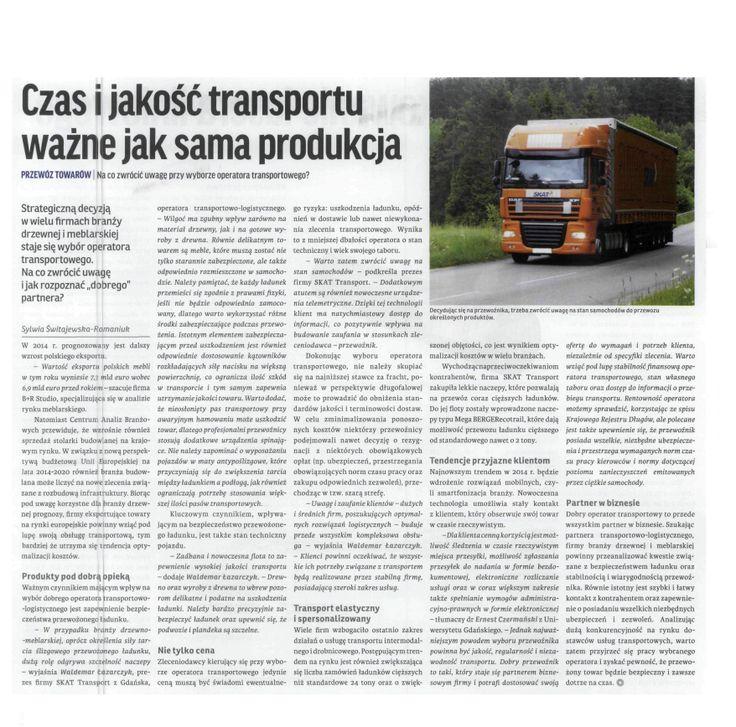 #SKAT #meble #transport Gazeta Przemysłu Drzewnego 02.2014