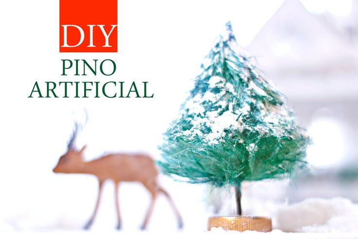 Arbolitos de navidad baratos, caseros y reciclados - decoracion economic...