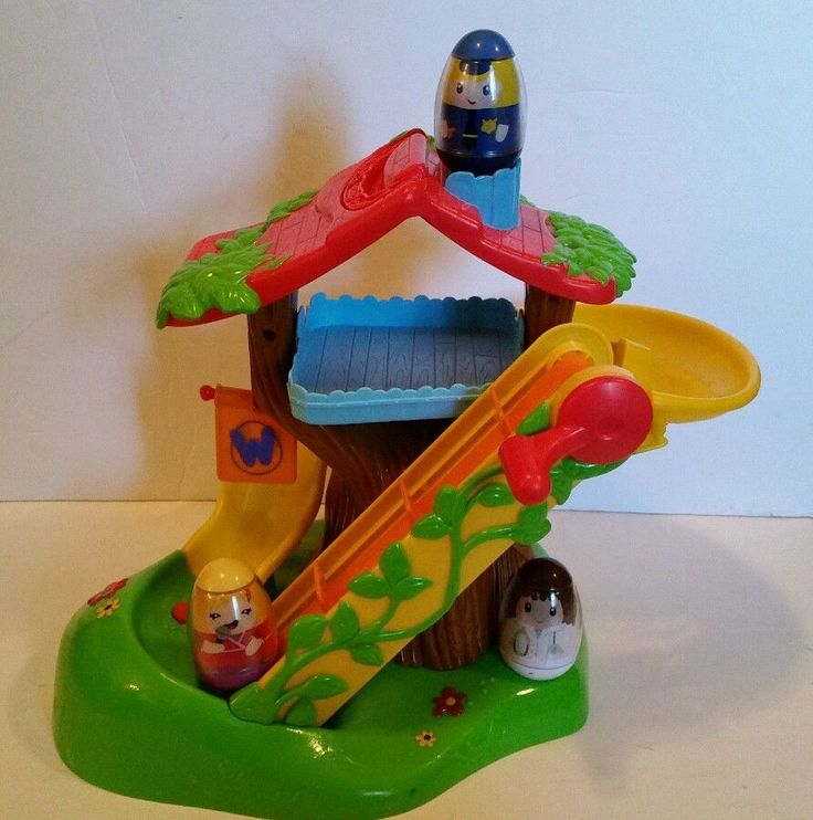 Playskool Weebles Musical Treehouse Part - 22: WEEBLES MUSICAL Tree House Playset Playskool 2009 Hasbro W/Nurse,  Policeman, #Hasbro