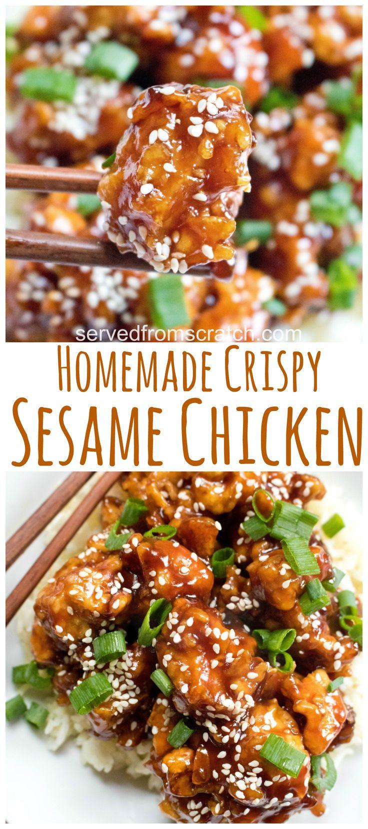 Homemade Crispy Sesame Chicken