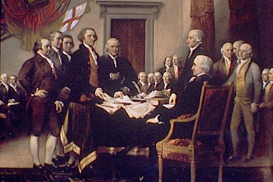 On July 4, 1776, the thirteen colonies claimed their independence from England, an event which eventually led to the formation of the United States.