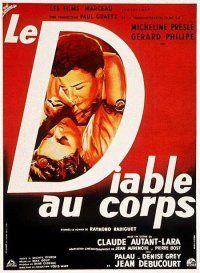 """""""Le diable au corps"""" de CLaude Autant-Lara avec Micheline Presle, Gérard Philipe. 1947"""
