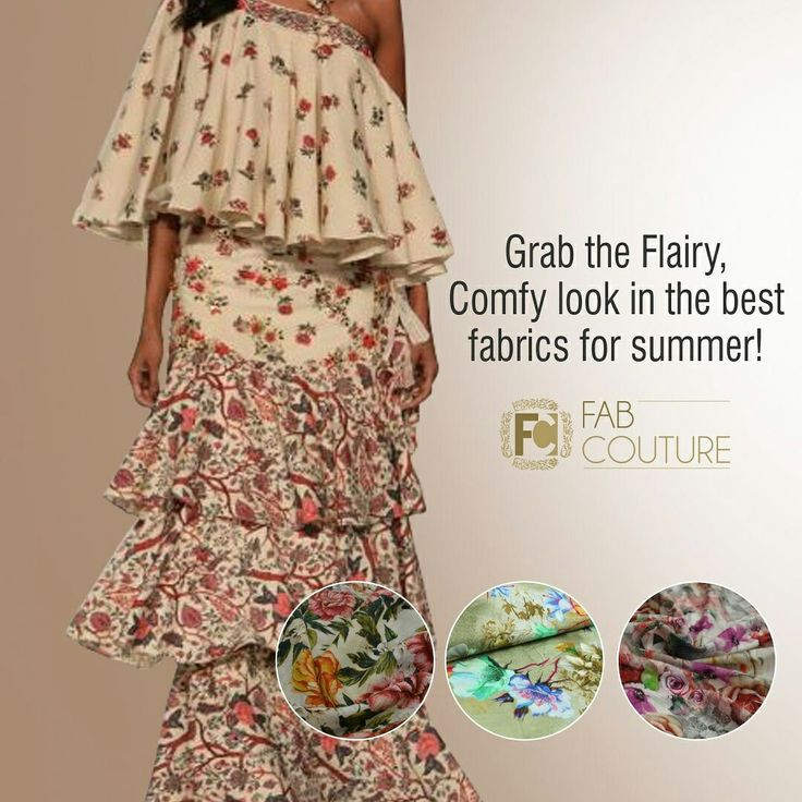 Grab the flairy, Comfy look in the best fabrics for Summer with #FabCouture! at: https://fabcouture.in/fabrics/printed-fabrics.html   #DesignerFabric at #AffordablePrices #DesignerDresses #Fabric #Fashion #DesignerWear #ModernWomen #DesiLook #Embroidered #WeddingFashion #EthnicAttire #WesternLook #affordablefashion #GreatDesignsStartwithGreatFabrics #LightnBrightColors #StandApartfromtheCrowd #EmbroideredFabrics