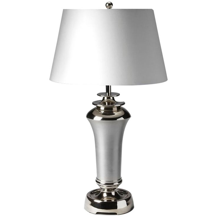 Butler Hors D'Oeuvres Nickel Finish Table Lamp