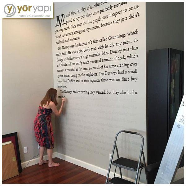 Ein Harry Potter Fan Schreibt Die Erste Seite Seines Ersten Buches An Die Wand Wandbilder Wand Diy Projekte Fur Zuhause