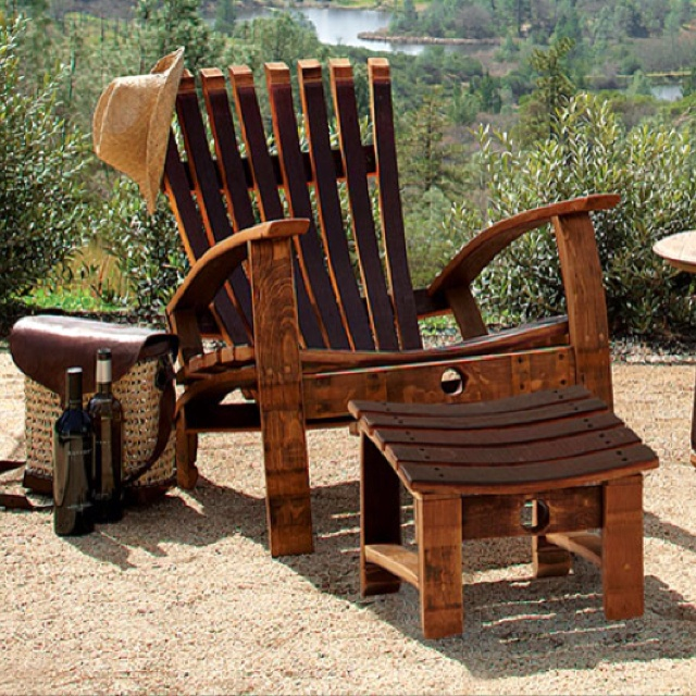 Superb Wine Barrel Adirondack Chair From NapaStyle.com
