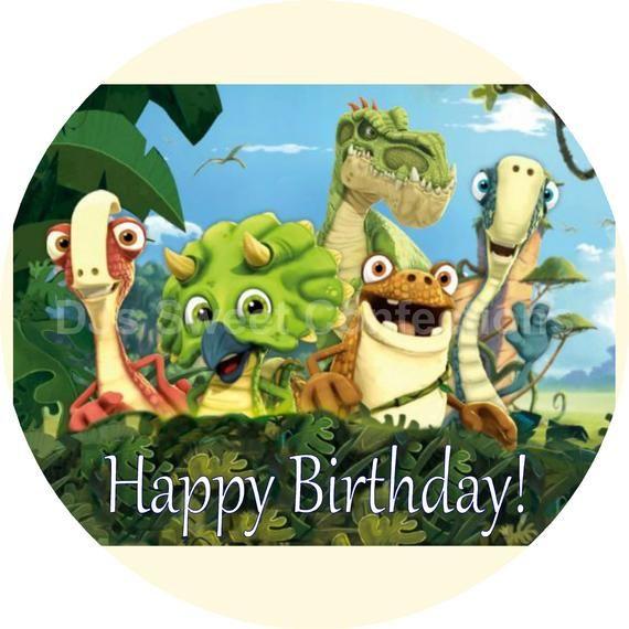 Personalized Gigantosaurus Cake Topper Etsy Half Sheet Cake Dinosaur Birthday Cakes Edible Cake Toppers