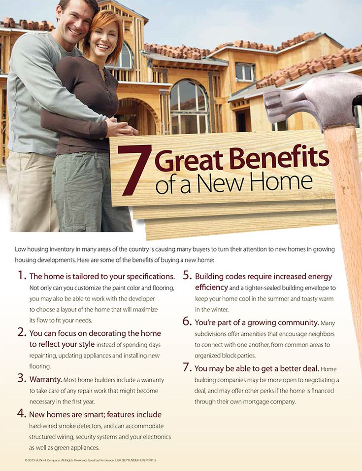 7 Benefits of Buying a New Home. realestatetips, realtor