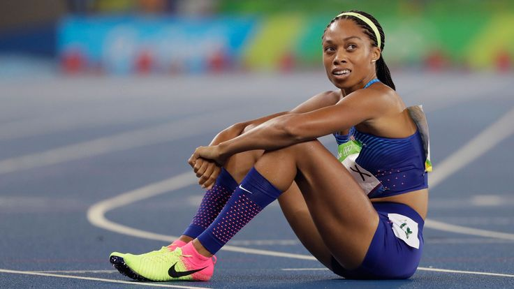 low priced 87242 e257f ... Allyson Felix on coming up just short of 400m gold Its just painful NBC  Olympics Celebrities ...