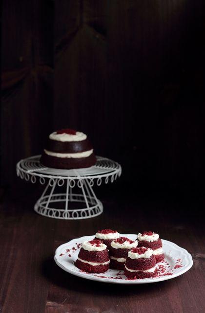 Cupcakes de red velvet de remolacha con crema de mascarpone - Fabsfood