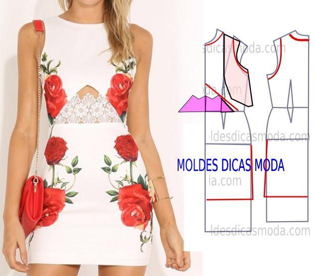 Passo a passo vestido com bordado. As aplicações conferem um toque de elegância e beleza aos modelos de roupa quando aplicadas no sitio certo.