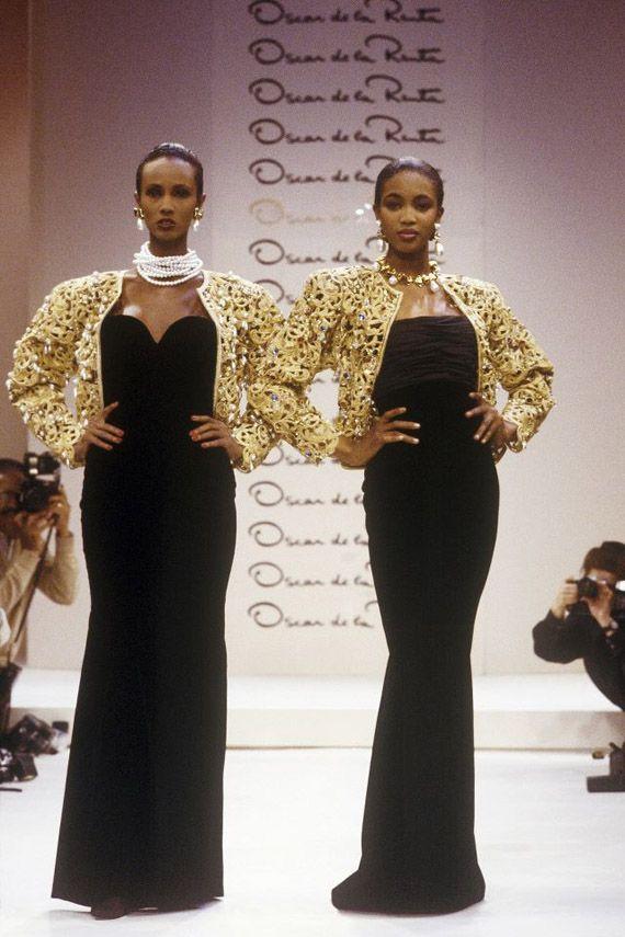 Taking a look back at Naomi Campbell and Iman walking the runway for Oscar de la Renta