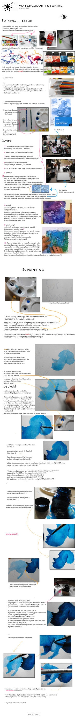 +.watercolor tutorial.+ by ~mysterychao on deviantART