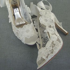 Delicieux Lace Peep Toe Wedding Shoes From Not On The High Street