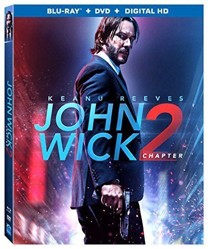 John Wick CHAPTER 2 - Blu-ray/DVD, 2017 2-Disc Set HD NEW SEALED W/COVER KEANU
