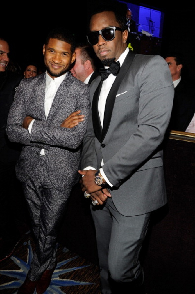 Stylish....Usher and Sean 'Diddy' Combs