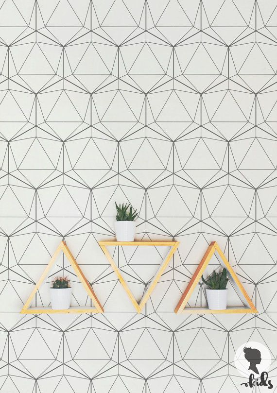 Geometric Pattern Removable Wallpaper A006 by LivettesKIDS on Etsy