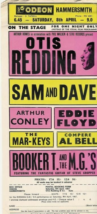 Otis Redding, Sam & Dave, Booker T. and the MGs, and more, April 8th, 1967