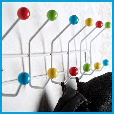 Details about coat hanger colour ball coat hooks towel for Eames nachbildung