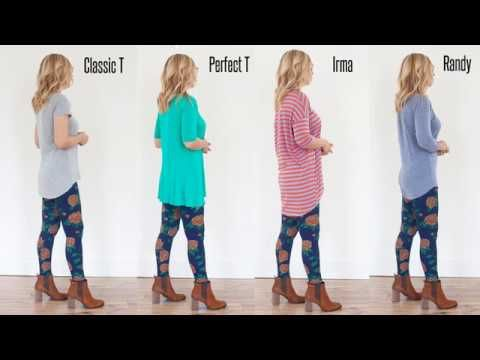 LuLaRoe Shirt Lengths - Classic T, Perfect T, Irma and Randy